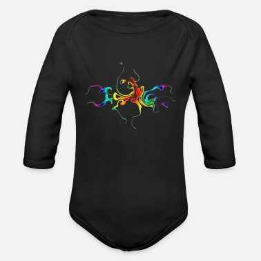 Play Of Colors Colorful play of colors - Organic Long-Sleeved Baby Bodysuit