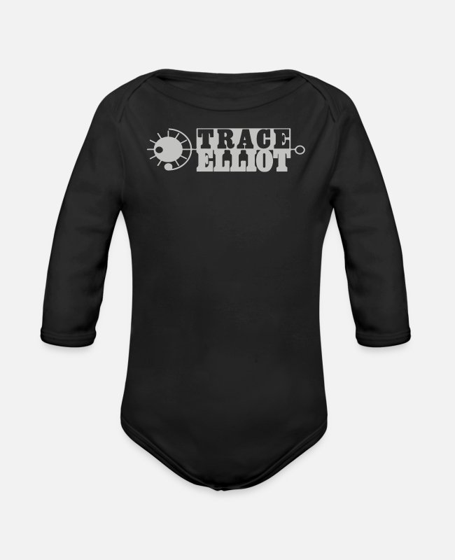 Brand Baby One Pieces - Trace Elliot - Organic Long-Sleeved Baby Bodysuit black