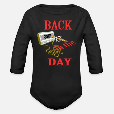 Back In The Day Back in the day - Organic Long-Sleeved Baby Bodysuit