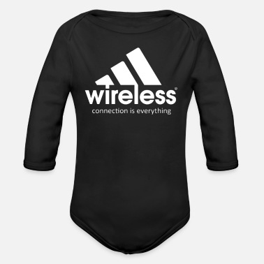Wireless Wireless Connections is Everything - Organic Long-Sleeved Baby Bodysuit