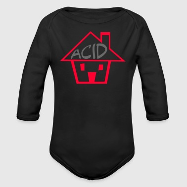 Acid House - Organic Long Sleeve Baby Bodysuit