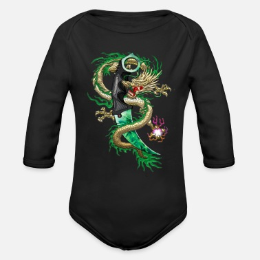 Counter Strike Karambit Emerald dragon - Organic Long Sleeve Baby Bodysuit