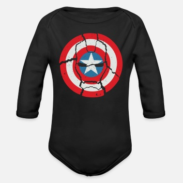 America Captain Casualties of War Cyber System - Organic Long-Sleeved Baby Bodysuit
