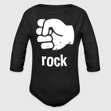 Rock Face Rock - Organic Long Sleeve Baby Bodysuit