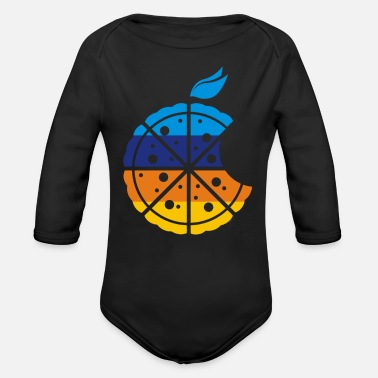 Pizza PIZZA PIZZA - Organic Long-Sleeved Baby Bodysuit