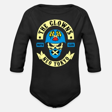 Seri The Clowns Neo Tokyo - Organic Long-Sleeved Baby Bodysuit