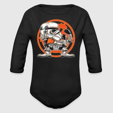 FIGHTING IN THE SANDS - Organic Long Sleeve Baby Bodysuit