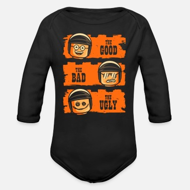 Cop GOOD COP BAD COP UGLY COP - Organic Long-Sleeved Baby Bodysuit