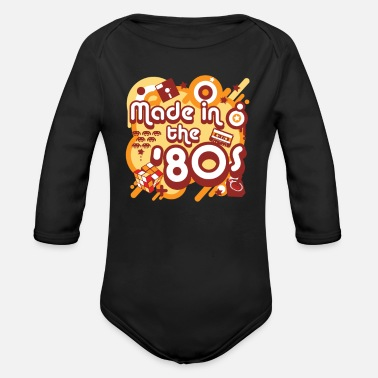 80s Made In The 80s - Organic Long Sleeve Baby Bodysuit