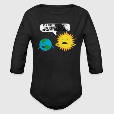 World Revolves - Organic Long Sleeve Baby Bodysuit
