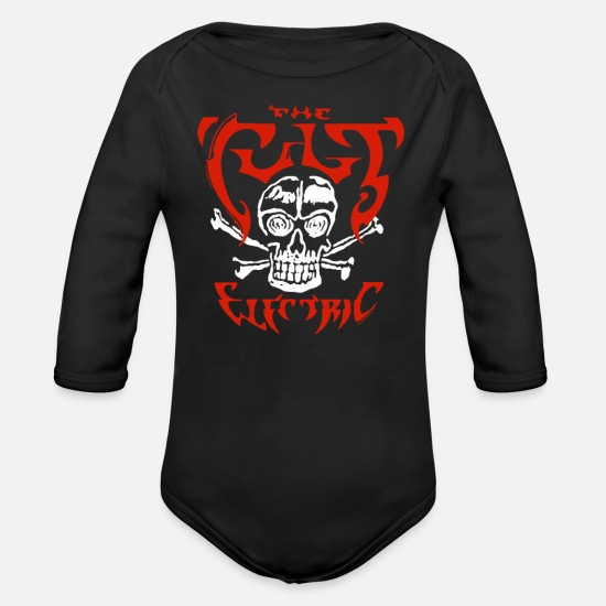 Cult Baby Clothing - The Cult Electric Beckham - Organic Long-Sleeved Baby Bodysuit black