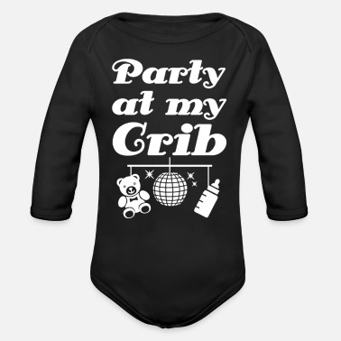 Crib Party at My Crib - Organic Long-Sleeved Baby Bodysuit