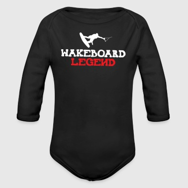 Wakeboard Wakeboard legend - Organic Long Sleeve Baby Bodysuit