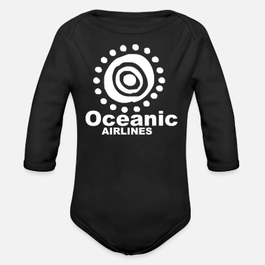 Airline Oceanic Airlines - Organic Long-Sleeved Baby Bodysuit