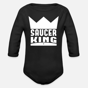 Saucer Saucer King Always On The Money - Organic Long-Sleeved Baby Bodysuit