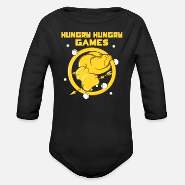 Hungry Hungry Hungry Games - Organic Long-Sleeved Baby Bodysuit