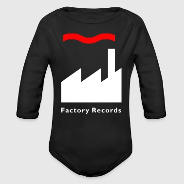 Record Champion Factory Records Retro Record Label Mens Music - Organic Long Sleeve Baby Bodysuit