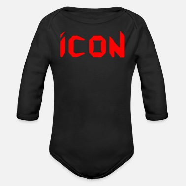 Icon The Icon - Organic Long Sleeve Baby Bodysuit