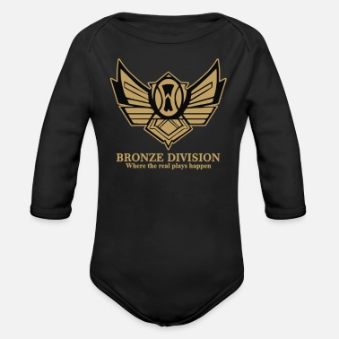Bronzing Bronze Division - Organic Long-Sleeved Baby Bodysuit