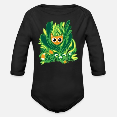 Wild Cat Cat In The Wild - Organic Long-Sleeved Baby Bodysuit