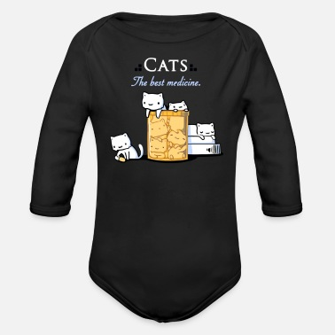 Medicine Cats are the Best Medicine - Organic Long Sleeve Baby Bodysuit