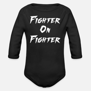Fighter Fighter on Fighter - Organic Long Sleeve Baby Bodysuit