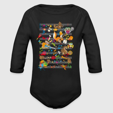Concert Concert of Animals - Organic Long Sleeve Baby Bodysuit