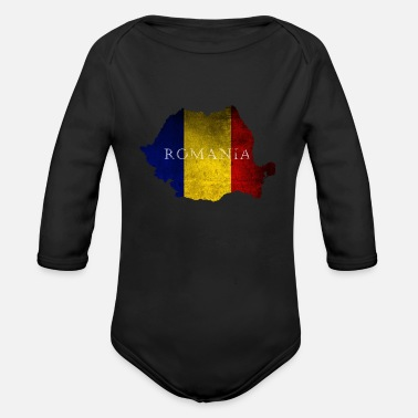 Bucharest Romania Bucharest - Organic Long Sleeve Baby Bodysuit