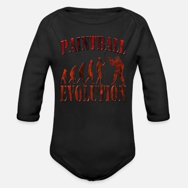 Paintball Paintball - Organic Long Sleeve Baby Bodysuit