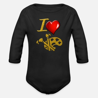 Painting Painting - Organic Long Sleeve Baby Bodysuit