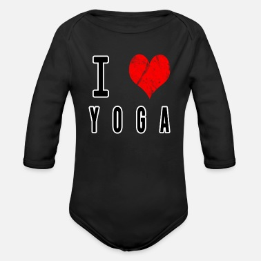 I Love Yoga I Love Yoga - Organic Long-Sleeved Baby Bodysuit
