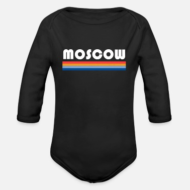 moscow colors russia colorful - Organic Long-Sleeved Baby Bodysuit
