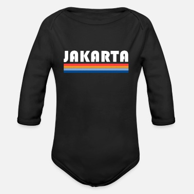 Jakarta colorful colors gift - Organic Long-Sleeved Baby Bodysuit