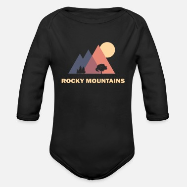 Mountains rocky mountains - Organic Long-Sleeved Baby Bodysuit