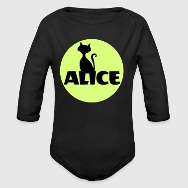 Alice First name Name Personal gift Name day - Long Sleeve Baby Bodysuit