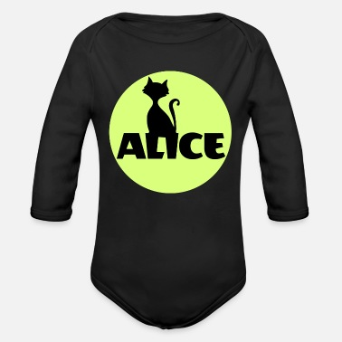 Name Day Alice First name Name Personal gift Name day - Organic Long Sleeve Baby Bodysuit