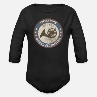 Horns horn horn instrument - Organic Long-Sleeved Baby Bodysuit