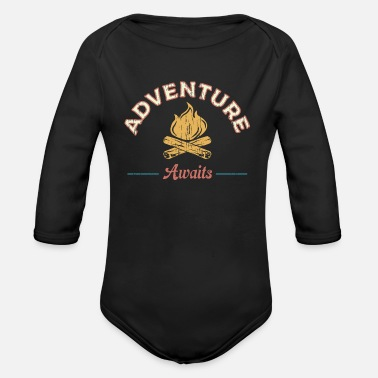 Hiking Adventure Awaits Hiking Adventure Awaits - Organic Long-Sleeved Baby Bodysuit