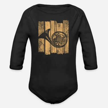 Horns Horn - Organic Long-Sleeved Baby Bodysuit