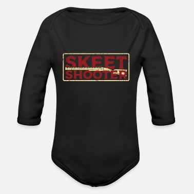 Skeet Shooting Skeet Shooting shooter - Organic Long-Sleeved Baby Bodysuit