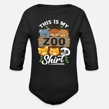 Zoo Animals Zoo Animals - Organic Long-Sleeved Baby Bodysuit