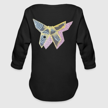 Paper Paper Butterfly - Organic Long Sleeve Baby Bodysuit