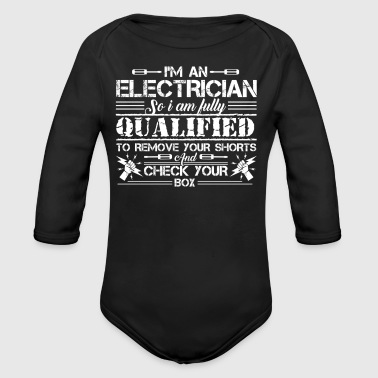 Electrician Tee Shirt - Long Sleeve Baby Bodysuit