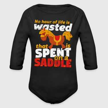 Spend on a Saddle - Long Sleeve Baby Bodysuit