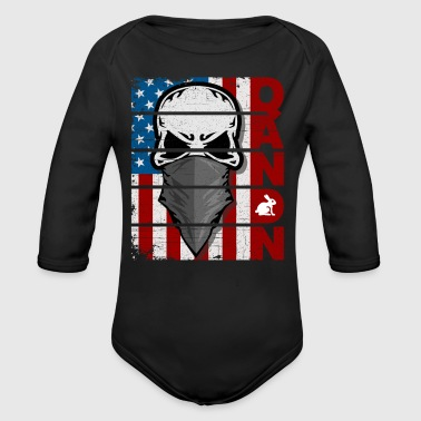 Q Anon American Flag Follow The White Rabbit - Long Sleeve Baby Bodysuit