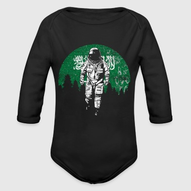 Astronaut moon Saudi Arabia flag - Long Sleeve Baby Bodysuit