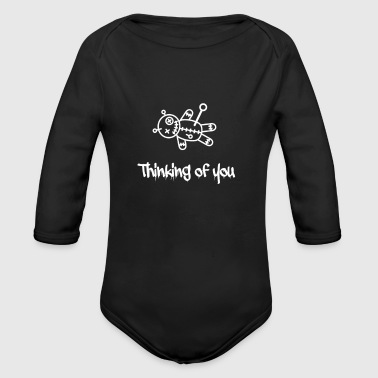 Thinking of you voodoo doll - Long Sleeve Baby Bodysuit