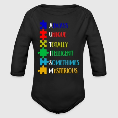 Autism Awareness Defination Meaning Word Funny Shirts Gifts - Long Sleeve Baby Bodysuit