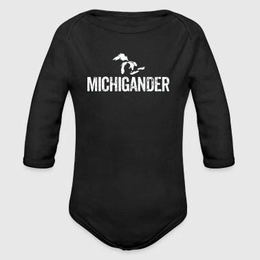 Michigander Great Lakes Upper Peninsula Michigan - Long Sleeve Baby Bodysuit