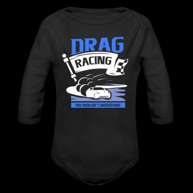 Cars with speed - Drag Racing - Long Sleeve Baby Bodysuit